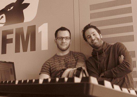 Das FM1 On-Air Design Team: Daniel Merkle (links) und Sacha Gamper (Bild: FM1)