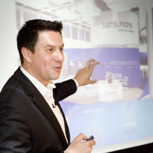 Maik Elster vom Projektbüro Digitalradio bei der PREVIEW anlässlich der IFA 2013 in  Hamburg (Foto: PREVIEW)