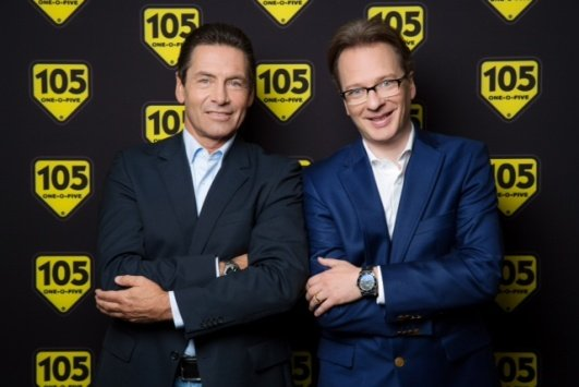 Radio105-Inhaber Daniel HArtmann (liinks) mit Giuseppe Scaglion (Foto: Radio 106)