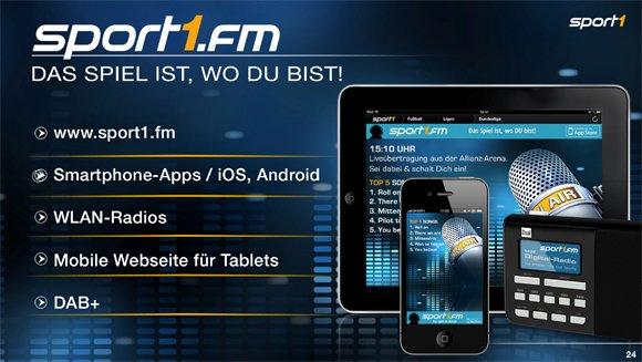 Verbreitungswege Sport1.fm