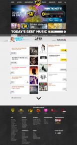 Screenshot der Webseite von Radio 105