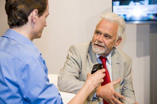 Daniel Kähler im Interview mit Dr. Willi Steul (Bild: Deutschlandfunk)