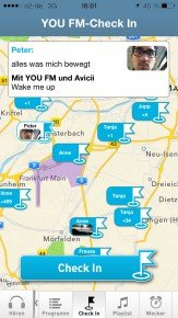 YOU FM-App Check-In