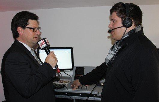 Freudenstadts OB Julian Osswald im Interview mit Moderator Felix Straube.