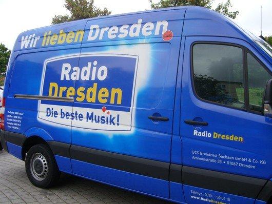 Firmenfahrzeug von Radio Dresden (Bild: Hendrik Leuker)