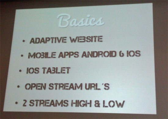Basis-Anforderungen für Radiosender im Mobile Web (Screenshot aus Präsentation von Spoiled Milk)