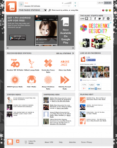 Homepage von 1.FM