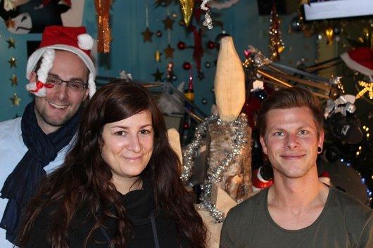 FM1 Wachmacher Chäller, Jasmin Barbiero und Morgenjoe (v.l.n.r.) (Bild: © FM1)