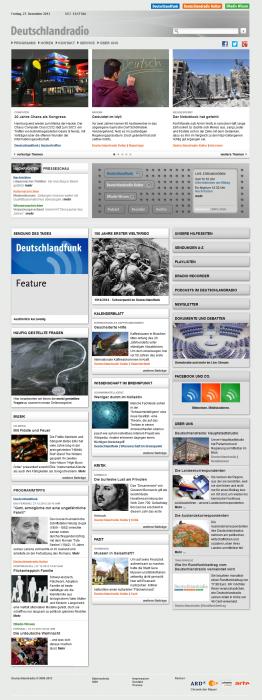Deutschlandradio Webseite