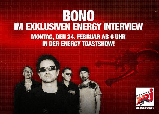Bono bei ENERGY