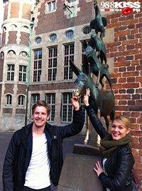 Lukas und Alina in Bremen (Bild: 98.8 KISS FM)