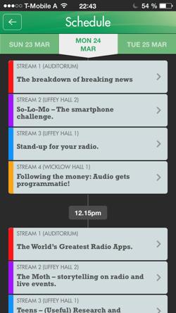 Der Vortrags-Planer in der neuen Radiodays Europe-App