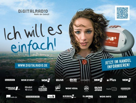 Digitalradio-Werbekampagne in Nordrhein-Westfalen.