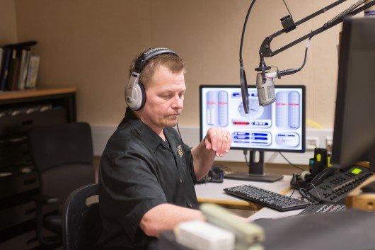 Lance Milsted im AFN-Studio