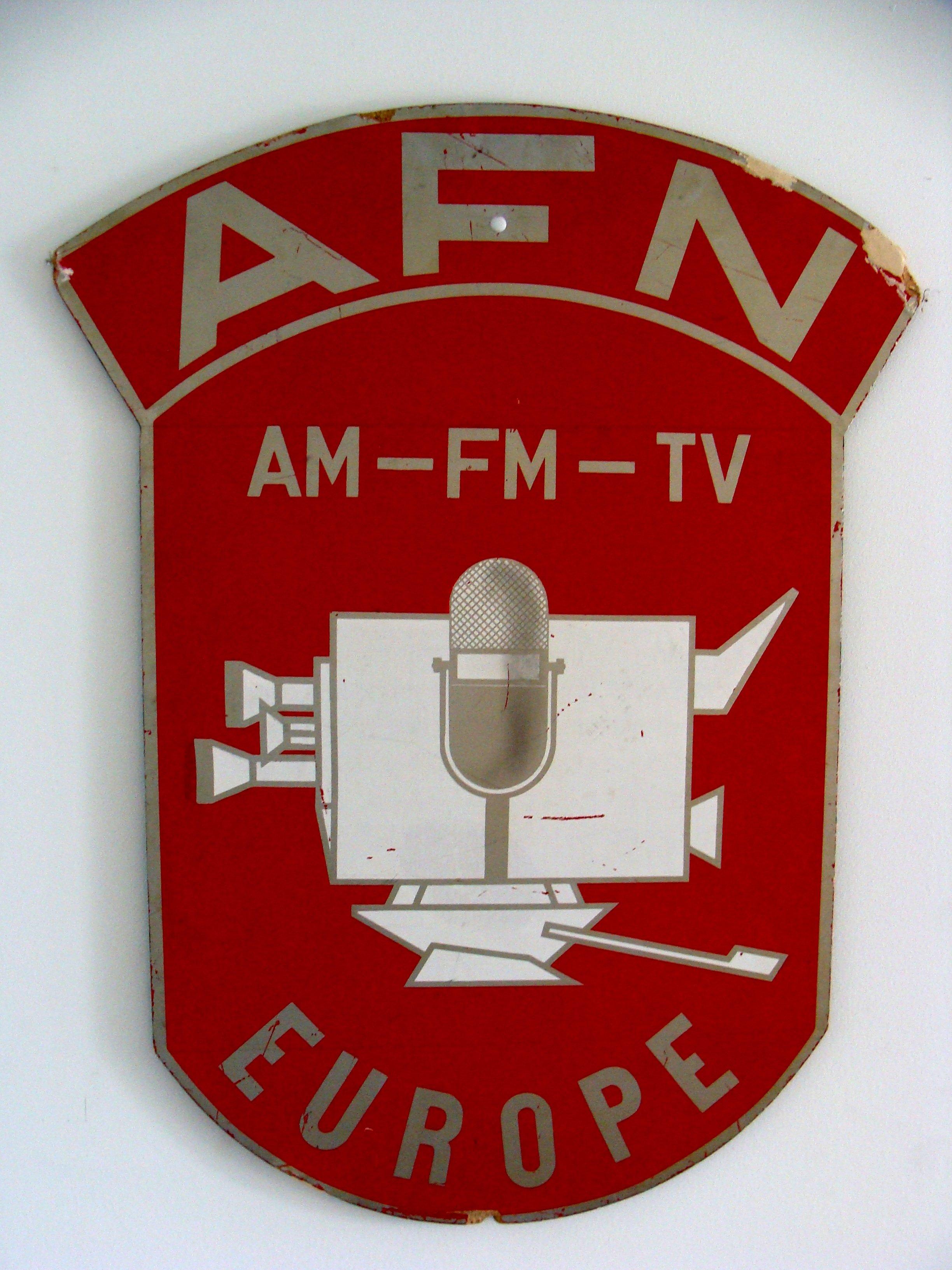 Schild: AFN Europe