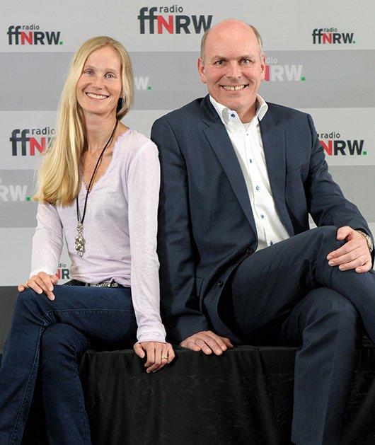 ffn-Programmdirektorin Ina Tenz und ffn-Geschäftsführer Harald Gehrung
