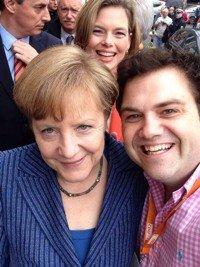 Selfie von Kunze und Merkel (Bild: RPR1.)