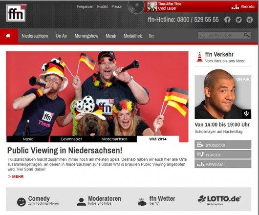 Startseite von ffn.de