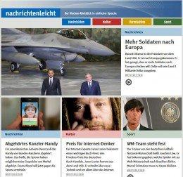 Screenshot nachrichtenleicht.de
