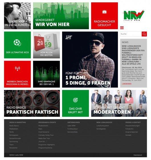 Neue Website von radio NRW