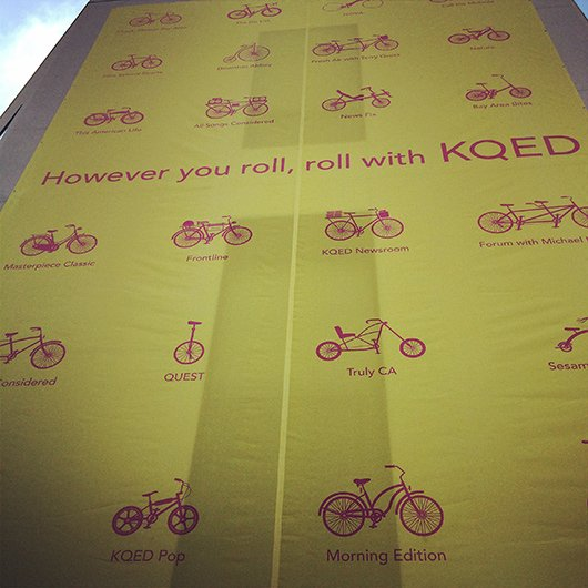 However you roll, roll with KQED (Bild: Schalt)