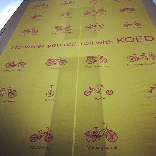 However you roll, roll with KQED (Bild: Schalt)