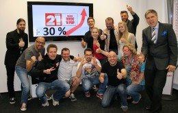 Das Team von Radio 21