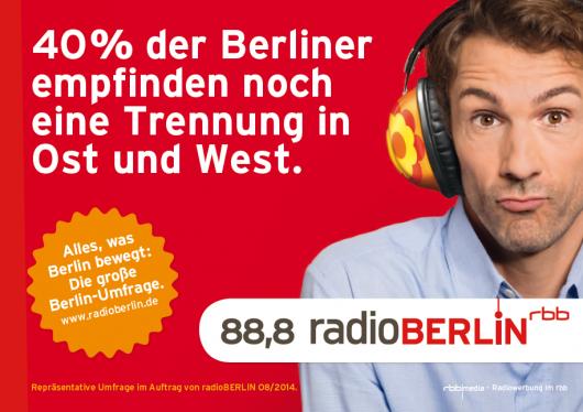 RBB RadioBerlin 88.8 Umfrage & Kampage