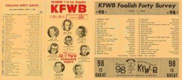 Ein KFWB-AM Poster aus besseren Zeiten.