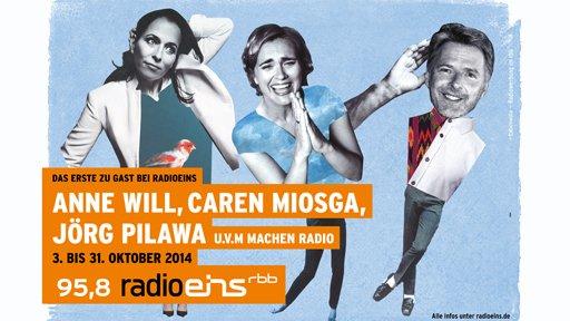 Das Erste zu Gast bei Radioeins - Plakat des RBB. Quelle: radioeins