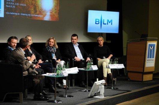 Marc Jäggi, Martin Kunze, Walter Schmich, Karen Schmied, Georg Spatt, Ina Tenz, Inge Seibel (Bild: Medientage München)