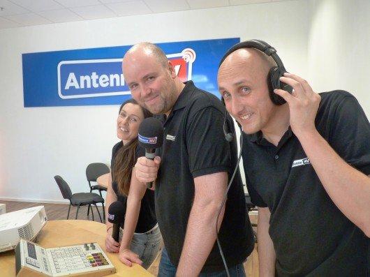 Neues Studio von Antenne MV in Schwerin - Timo und das Morgenteam. Foto: Antenne MV
