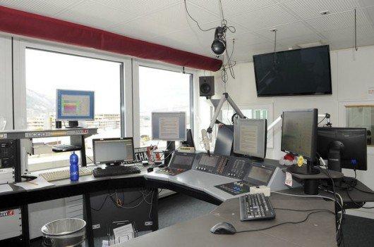 Blick ins neue Studio von Radio Grischa (Bild: Archiv/Südostschweiz.ch)