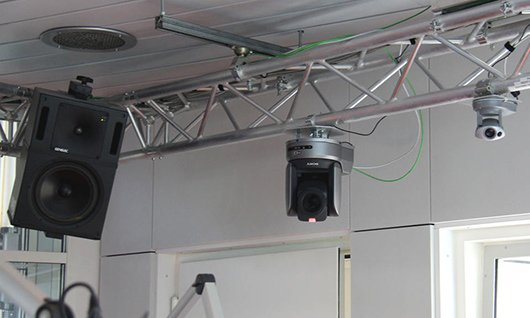 Überall Kameras im SWR3-Studio (Bild: SWR3.de)