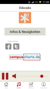 Screenshot Campusradio NRW App