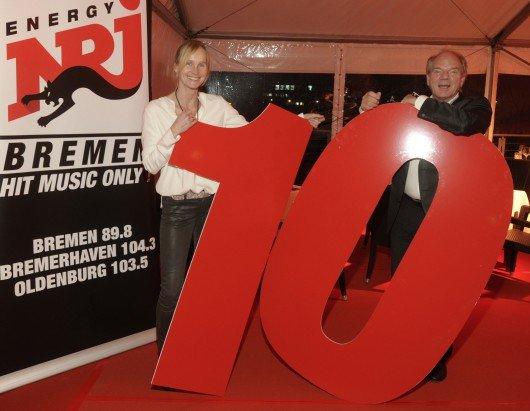 Ina Tenz mit Lutz Kuckuck (Geschäftsführer Radiozentrale)