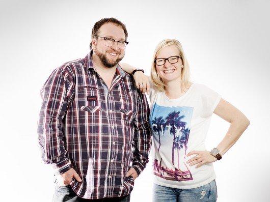 Jelena Baier und Raimund Stroick. Foto: Radio WMW