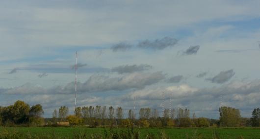 Die historische Sendeanlage Zehlendorf nördlich von Berlin strahlt momentan noch die Langwelle 177 kHz ab. Foto: RADIOSZENE