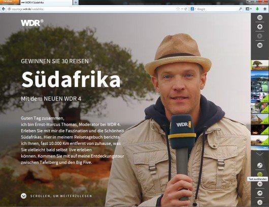 Multimedia-Reportage von WDR 4