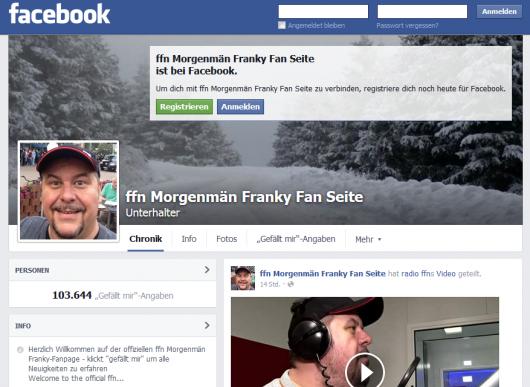 Fansite von Franky. Quelle: Screenshot facebook.com/frankys.fan.seit / Google Cache