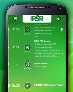 Radio PSR App. Quelle: Radio PSR / Google Play