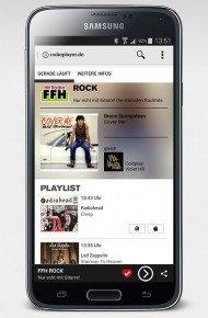 Die Radioplayer-App für Android.