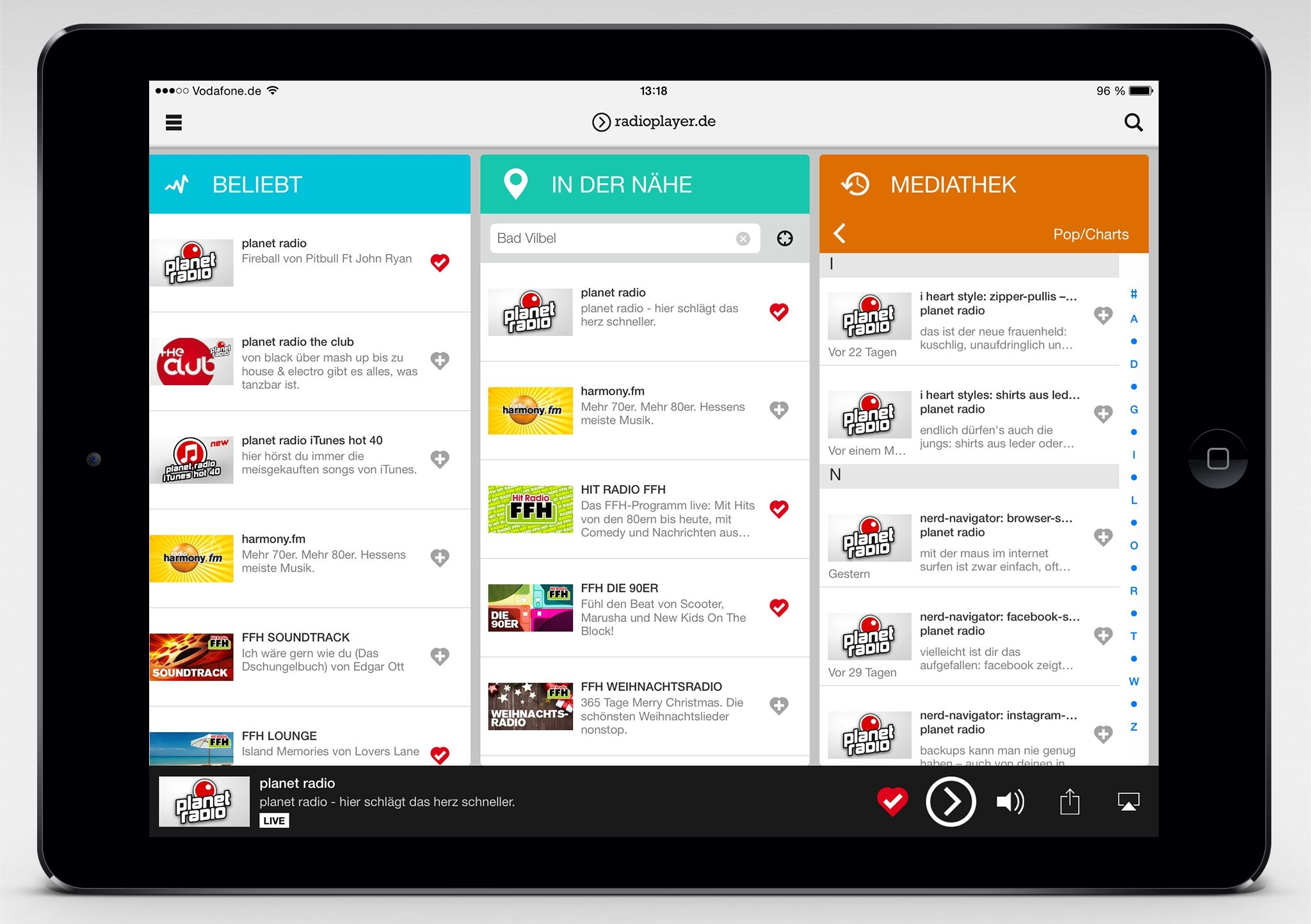 Radioplayer De App