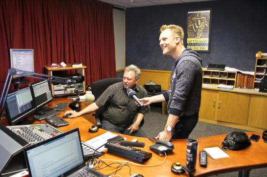 Ernst-Marcus Thomas bei RSG in Kapstadt. (Foto: WDR 4)