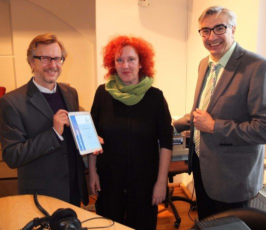 Prof. Dr. Erich Schäfer, Grit Hasselmann, Jochen Fasco. (v.l.n.r.) Foto: TLM