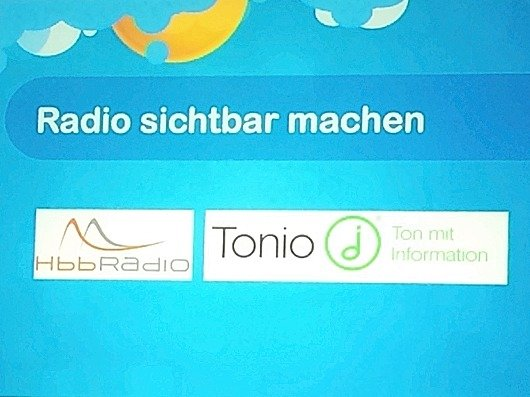 "Präsentation des ""Visual Radio"" -Projekts beim radio.hack 2105 (Bild: Ulrich Köring)"