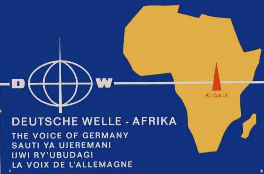 Postkarte der Deutschen Welle zur Inbetriebnahme des Senders Kigali.