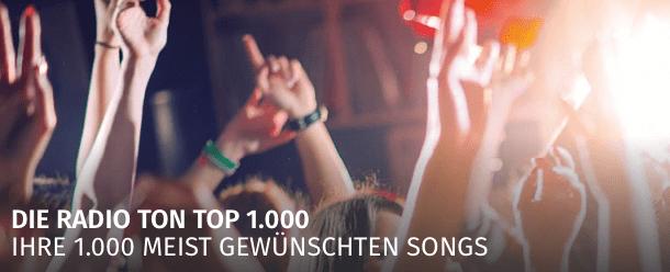 Radio Ton Top 1000 – Die längste Chartshow in Baden-Württemberg
