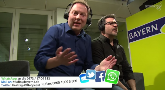 Thorsten Otto und Rick Kavanian im Bayern3-Video (YouTube)