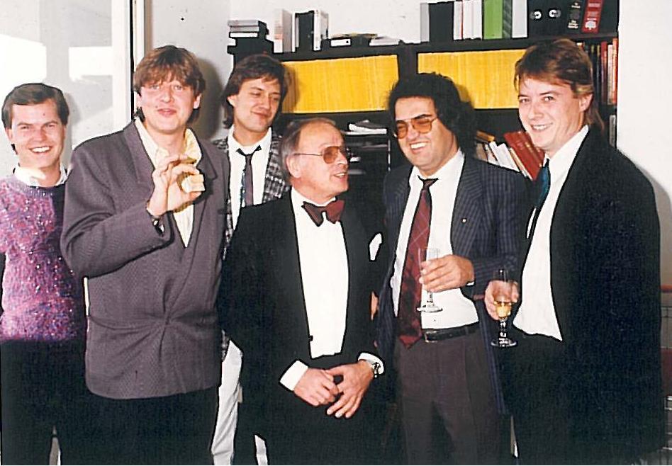 v.l.n.r. Andreas Urek, Walter Freiwald, Uli Baur, Bob Borrink, Helmut Markwort, Georg Dingler